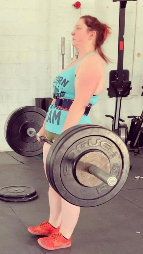 Kristi Pellegrini lifting heavy weights