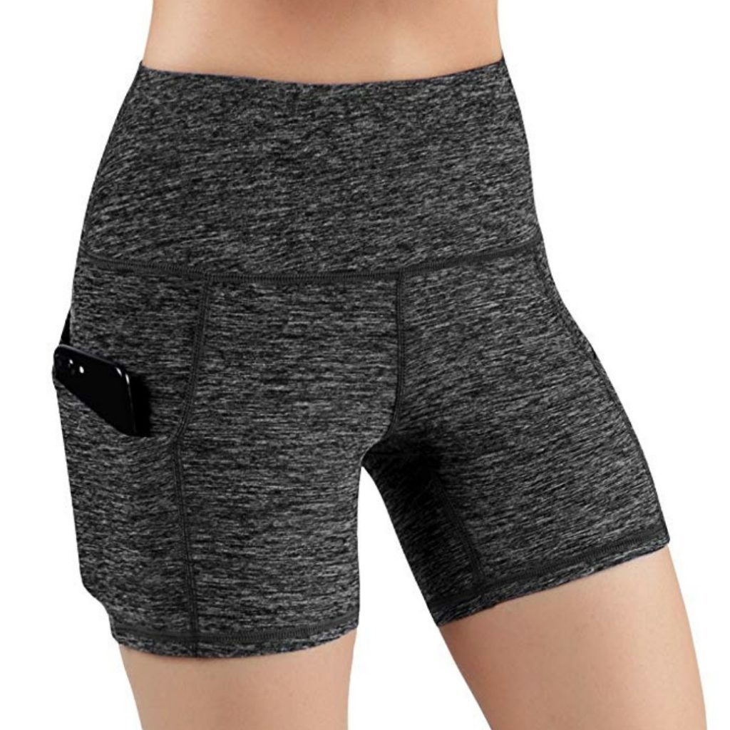 ODODOS High Waist Out Pocket Best Crossfit Shorts Womens