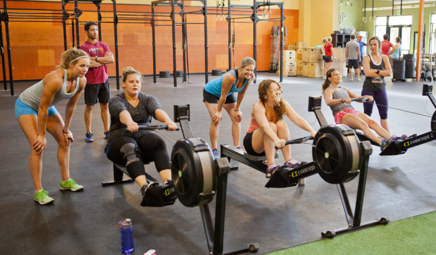CrossFit Women Celebrating